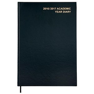 Image of 5 Star 2016- 2017 Academic Year Diary / A4 / Week to View / Black