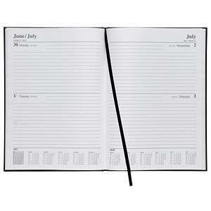 Image of 5 Star 2017 Diary / 2 Days to Page / A4 / Black