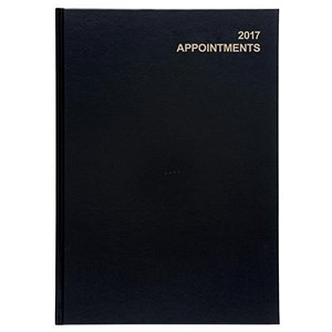 Image of 5 Star 2017 Appointment Diary / Day to A Page / A4 Black