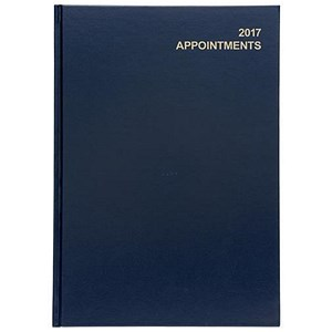 Image of 5 Star 2017 Appointment Diary / Day to A Page / A4 Blue