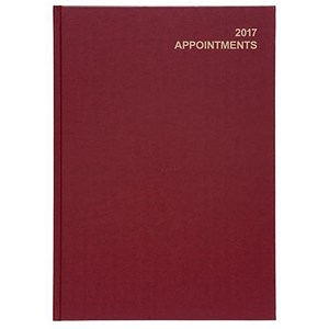 Image of 5 Star 2017 Appointment Diary / Day to A Page / A4 Red