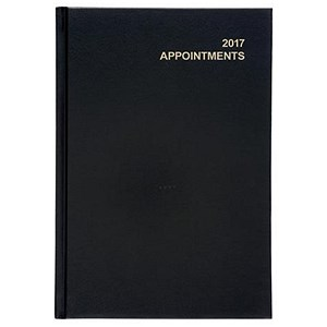 Image of 5 Star 2017 Appointment Diary / Day to Page / A5 Black