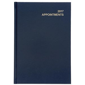 Image of 5 Star 2017 Appointment / Diary Day to Page / A5 Blue