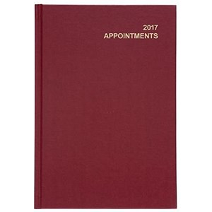 Image of 5 Star 2017 Appointment / Diary Day to Page / A5 Red