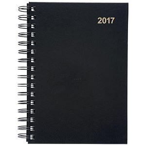 Image of 5 Star 2017 Wirobound Diary / Day to a Page /A5