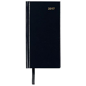 Image of 5 Star 2017 Slim Diary / Week to View / Portrait / Black