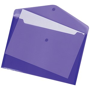 Image of 5 Star Envelope Wallets / A4 / Purple / Pack of 5