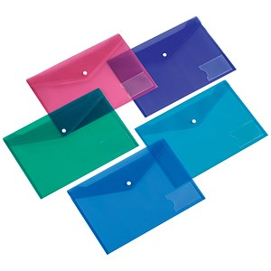 Image of 5 Star Document Wallets / A5 / Assorted / Pack of 5