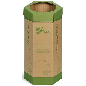 Image of 5 Star Recycling Bin / Cardboard / Pack of 3