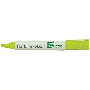 Image of 5 Star Eco Highlighters / Yellow / Pack of 10