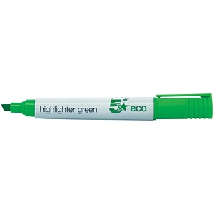 Image of 5 Star Eco Highlighters / Green / Pack of 10