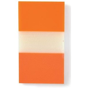 Image of 5 Star Standard Index Flags / 50 Sheets per Pad / 25x45mm / Orange / Pack of 5