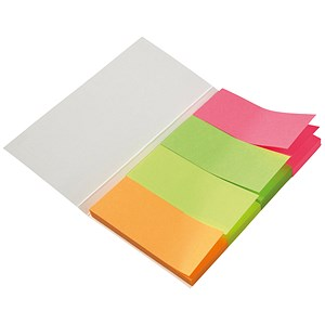 Image of 5 Star Index Flags / Neon / 20x50mm / 50 Sheets per Colour / Assorted / Pack of 5