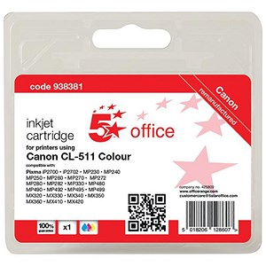 Image of 5 Star Compatible - Alternative to Canon CL-511 Colour Inkjet Cartridge