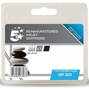 Image of 5 Star Compatible - Alternative to HP300 Black Inkjet Cartridge