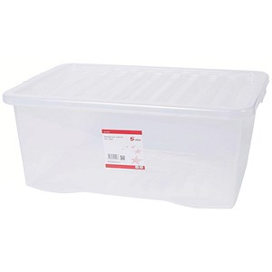 Image of 5 Star Storage Box / Clear Plastic / 45L / Clear