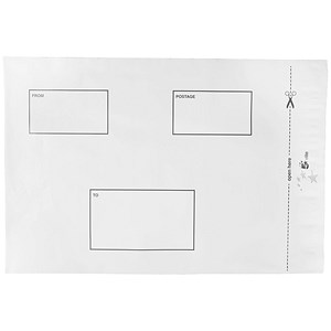 Image of 5 Star Waterproof Envelopes / DX / 250x320mm / Press Seal / White / Pack of 100