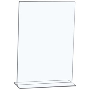 Image of 5 Star Sign Holder / Portrait / Stand Up / A4 / Clear