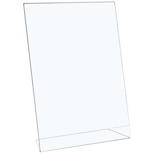 Image of 5 Star Sign Holder / Portrait / Slanted / A4 / Clear