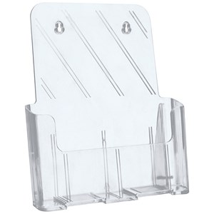 Image of 5 Star Literature Holder / Angled / A4 / Clear