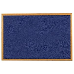 Image of 5 Star Felt Noticeboard / 900x600mm / Wooden Frame / Gloss