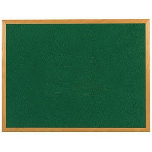 Image of 5 Star Felt Noticeboard / W1200xH900mm / Wooden Frame / Green