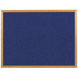 Image of 5 Star Felt Noticeboard / 1800x1200mm / Wooden Frame / Blue