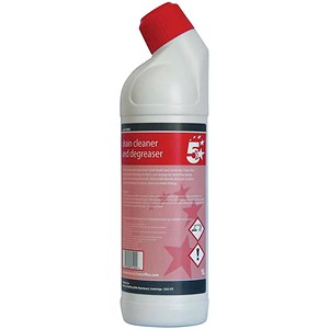 Image of 5 Star Drain Cleaner and Degreaser 1L