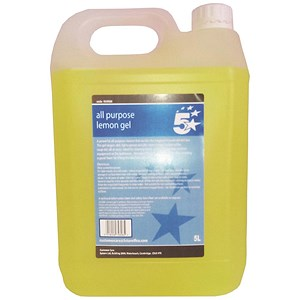 Image of 5 Star All Purpose Lemon Cleaning Gel 5 Litre