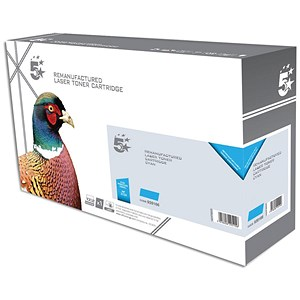 Image of 5 Star Compatible Laser Toner Cartridge Page Life 2700 Cyan [HP CF381A Alternative]