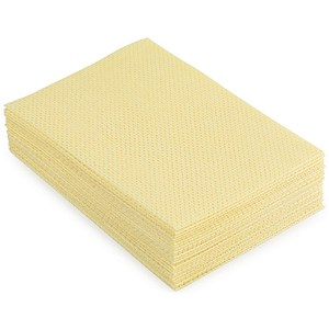 Image of 5 Star Cloths Anti-microbial Heavy-duty 76gsm 50x30cm Yellow [Pack 25]