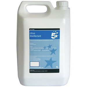 Image of 5 Star Kitchen and Washroom Disinfectant Citrus 5 Litre