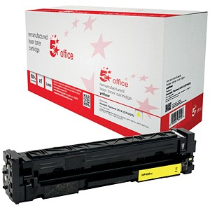 Image of 5 Star Compatible - Alternative to HP 201X Yellow Laser Toner Cartridge