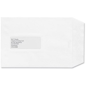 Image of Croxley Script C5 Script Pocket Envelopes with Window / Pure White / Peel & Seal / Pack of 500