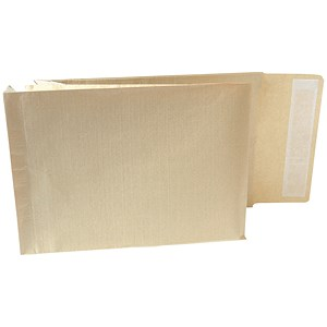 Image of New Guardian Armour C4 Gusset Envelopes / 50mm / Peel & Seal / Manilla / Pack of 100
