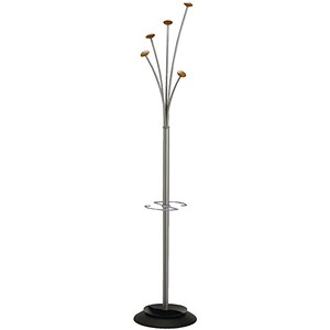 Image of Alba Festival Coat Stand - Wood and Grey