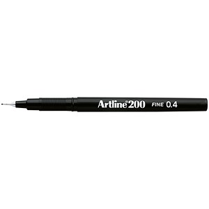 Image of Artline 200 Fineliner / Black / Pack of 12