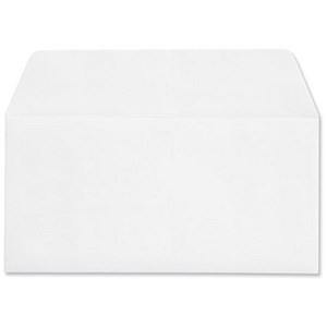 Image of Croxley Script Plain DL Wallet Envelopes / Pure White / Peel & Seal / 100gsm / Pack of 500