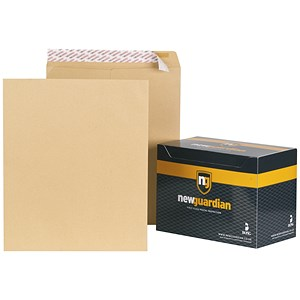 Image of New Guardian Heavyweight Pocket Envelopes / 444x368mm / Manilla / Peel & Seal / Pack of 125