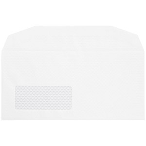 Image of Postmaster DL Wallet Envelopes with Window / Gummed / White / Pack of 500