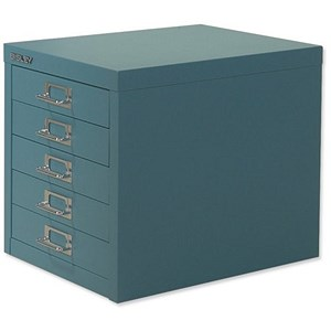Image of Bisley SoHo 5-Drawer Cabinet - Doulton Blue