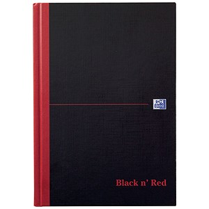 Image of Black n' Red Single Cash Account Book / 192 Pages / A5 / Pack of 5