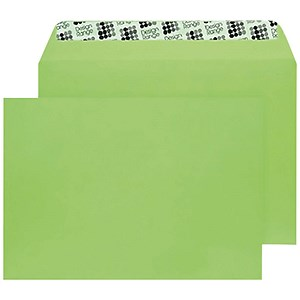 Image of Blake Plain Green C5 Envelopes / Peel & Seal / 120gsm / Pack of 250