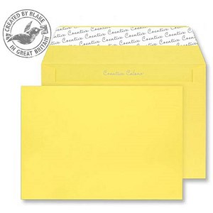 Image of Blake Plain Yellow C4 Envelopes / Peel & Seal / 120gsm / Pack of 250