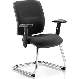Image of Chiro Visitor Cantilever Chair - Black
