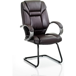 Image of Galloway Leather Visitor Chair - Brown