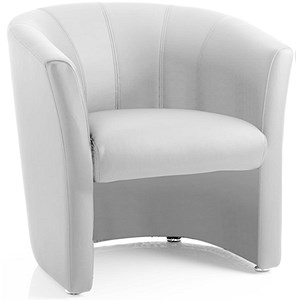 Image of Neo Single Seat Tub Chair - White Leather