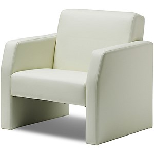 Image of Oracle Single Seat Leather Chair - Ivory