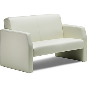 Image of Oracle Twin Seat Leather Chair - Ivory