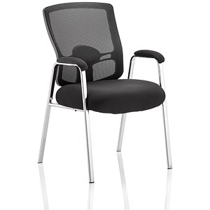 Image of Portland Straight Leg Visitor Chair - Black